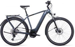 Cube Touring Hybrid Pro 500 Electric Bike in Metallic Grey/Black 2022