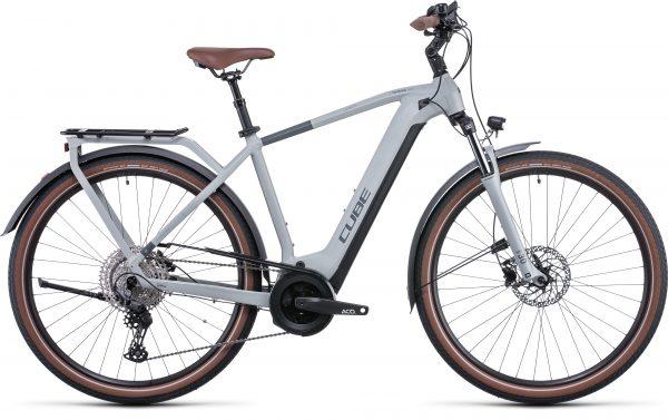 Cube Touring Hybrid Pro 625 Electric Bike in Lunar/Grey 2022