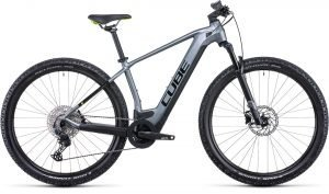 Cube Reaction Hybrid Pro 625 Electric Bike in Grey/Green 2022